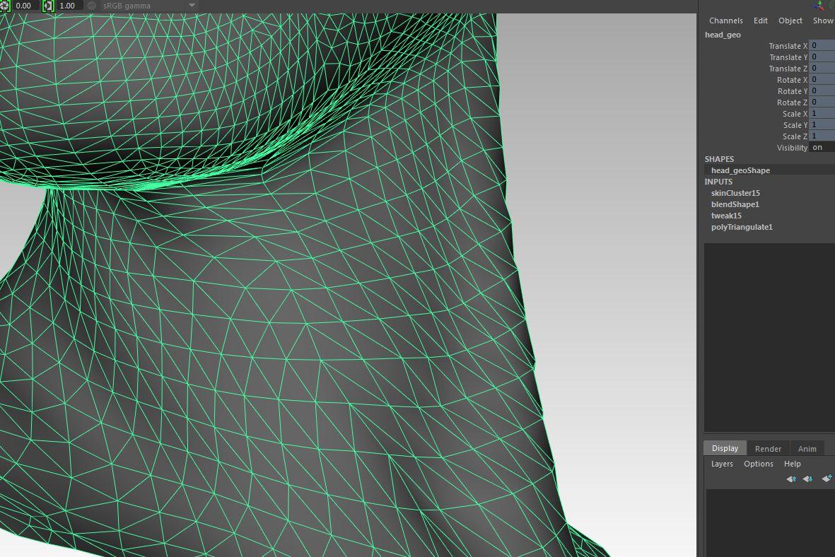 Deformation and Controlling/Displaying Triangulation in Maya | Noah